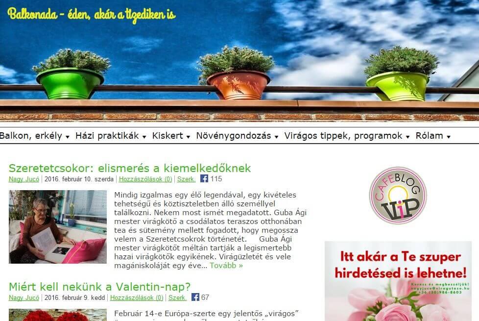 Médiaajánlat: Balkonada.cafeblog.hu
