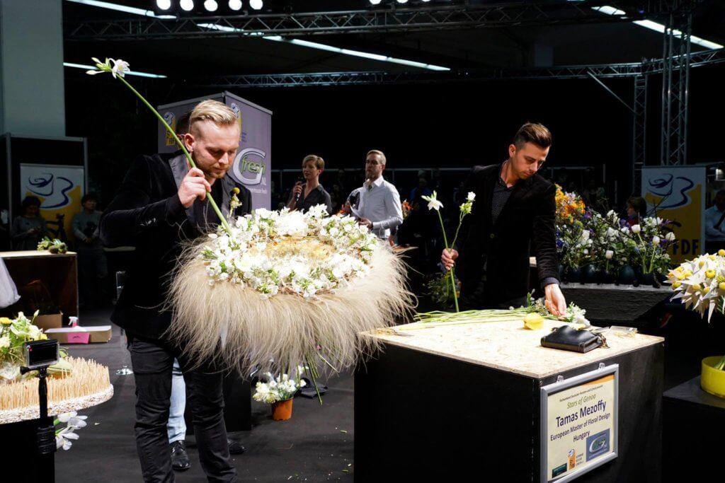 Mezőffy Tamás mester virágkötő dekorációi az IPM Essen 2017-en